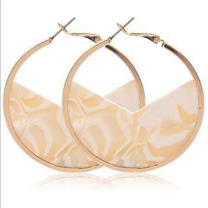 Handmade Acrylic Hoop earrings